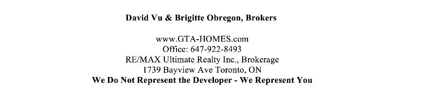 New Condo Brokers Contact Info